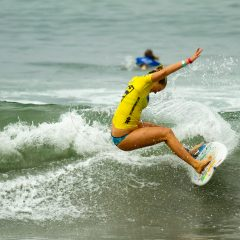 Bethany Hamilton making a  cut back during the Supergirl Surf Contest.