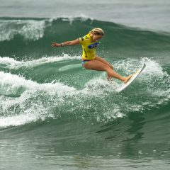 Bethany Hamilton showing style and grace at the Supergirl Pro 2013.