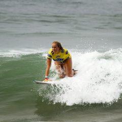 Bethany Hamilton riding a wave in.