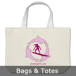 Surfer Girls Bags and Totes