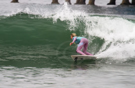 Laura Enever surfing Oceanside.