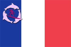 France flag with Surfer Girls Logo