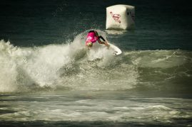 Laura Enever at the Supergirl Pro surf contest