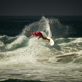 Sage Erickson on a wave in Oceanside, CA