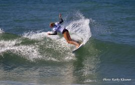 Laura Enever displaying her surf style.