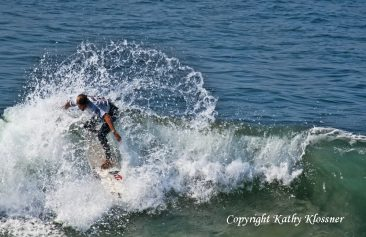Sally Fitzgibbons competing at the US Open in California.