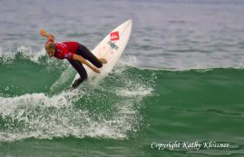 Stephanie Gilmore showing style & grace at the 2012 US Open Surf Contest.