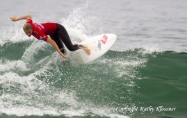 Sally Gilmore competing at the US Open in California.