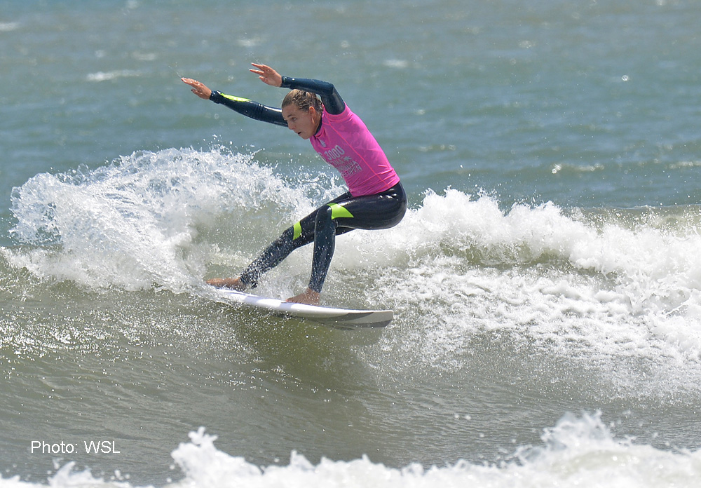 Aussie Philippa Anderson surfing at the Gotcha Ichinomiya Chiba Open, Japan