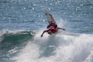 Tatiana Weston-Webb competing at the Los Cabos Open of Surf Women's Pro