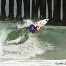 Californian Courtney Conlogue wins the 2017 Supergirl Pro in Oceanside, CA